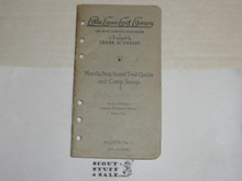 1926 Handy Boy Scout Test Guide and Camp Songs, By Frank Cheley, Little Loose Leaf Series Bulletin #13