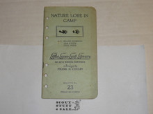 1927 Nature Lore in Camp, By Frank Cheley, Little Loose Leaf Series Bulletin #23