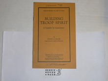 1925 Building Troop Spirit, By The Boycraft Company, Approved by the BSA, Booklet #A6