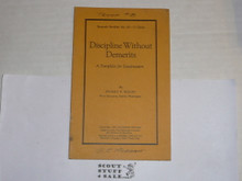 1925 Discipline Without Demerits, By The Boycraft Company, Approved by the BSA, Booklet #A5