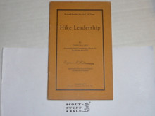 1926 Hike Leadership, By The Boycraft Company, Approved by the BSA, Booklet #A19