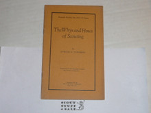 1925 The Whys and Hows of Scouting, By The Boycraft Company, Approved by the BSA, Booklet #A14