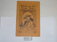1927 Hints on the Scout Tests by Baden Powell, By The Boycraft Company, Approved by the BSA, Booklet #A22