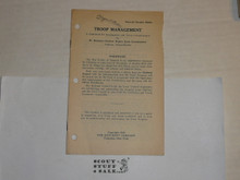 1928 Troop Management Leaflet, By The Boycraft Company, Approved by the BSA, Leaflet BS200, RARE