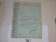 1964 Letter from Joseph Brunton congratulating a 25 year veteran, on National BSA Letterhead