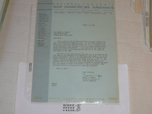 1960 Letter on Boy Scout National Headquarters Stationary Region 12