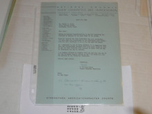 1966 Letter on Boy Scout National Headquarters Stationary Region 12