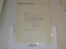 1971 Letter on Boy Scout National Headquarters Stationary
