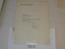 1973 Letter on Boy Scout National Headquarters Stationary