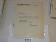 1975 Letter on Boy Scout National Headquarters Stationary from Bill Downs, Original Signature