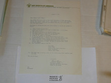 1975 Letter on Boy Scout National Headquarters Stationary from Bill Downs