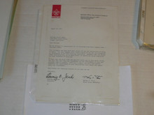 1977 Letter on Boy Scout National Headquarters Stationary Congratulating Eagle Scout
