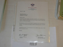 1995 Letter on Boy Scout National Headquarters Stationary Congratulating Long Term Veteran Paul Knauf of Unami Lodge