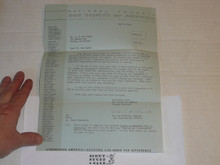 1964 Letter on Boy Scout National Headquarters Stationary