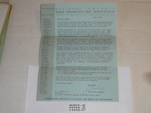 1964 Letter on Boy Scout National Headquarters Stationary from Joseph Brunton with envelope