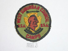 West Suburban Council Camps Patch, used