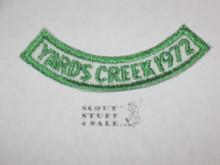 Yards Creek Scout Camp Segment Patch, 1972