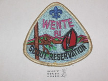 Wente Scout Reservation Patch, 1981