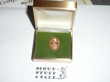 Distinguished Eagle Scout Award Charm, 10k GOLD with Robbins Hallmark, Early variety, in original presentation box