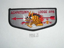 Order of the Arrow Lodge #498 Achpateuny s4 Flap Patch