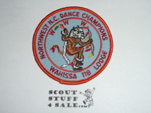Order of the Arrow Lodge #118 Wahissa r3 NW Dance Champions Patch