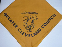 1973 National Jamboree Contingent Neckerchief - Greater Cleveland Council