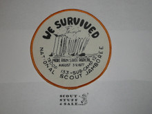 1977 National Jamboree Pennsylvania Troop We Survived Patch