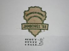 1953 National Jamboree JSP - Finger Lakes Council FELT JCP, cut out and sewn