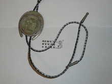 1981 National Jamboree Bolo Tie with lanyard cord and metal tips, used