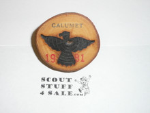 1981 National Jamboree Calumet Council Contingent Neckerchief Slide