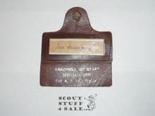 1981 National Jamboree Trading Post Staff Leather Name Badge