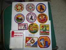 1981 National Jamboree Reproduction Patch Set 1935-1981, Complete in case
