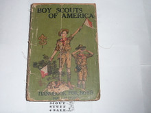 Copy of 1923 Boy Scout Handbook, Second Edition, Twenty-ninth Printing, spine and cover wear