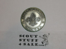 1967 Boy Scout World Jamboree Official Friendship Coin / Token, Pewter Color, discoloration on back