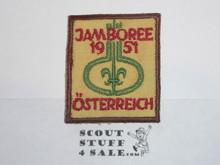 1951 Boy Scout World Jamboree c/e Twill Patch