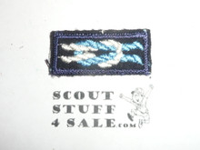Silver Beaver Award Knot on Sea Scout Blue, 1946-1983