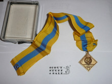 Cub Scouter Award Medal (neck Ribbon style), Discontinued, New in Box
