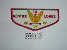 Order of the Arrow Lodge #12 Nentico f1 Flap Patch