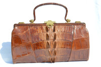 Gorgeous 1920's-30's EDWARDIAN Style Hornback ALLIGATOR TAIL Skin Purse