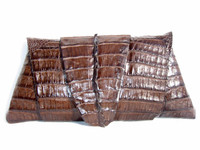 New! ROCKSTAR Tobacco Hornback CROCODILE TAIL Wrap CLUTCH