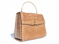 Butterscotch 1960's SACHA Crocodile Skin Handbag - FRANCE