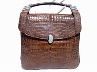1980's-90's COCOA CROCODILE Belly Skin SHOULDER Bag