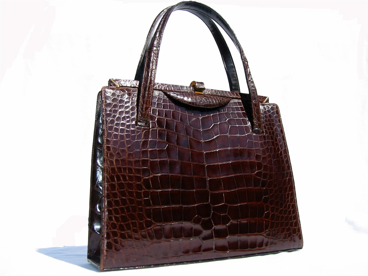 Chocolate Snake Skin Bag Buy
