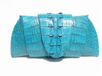New! ROCKSTAR *SCUBA BLUE* Hornback CROCODILE TAIL Wrap CLUTCH