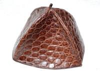 Brown ALLIGATOR Skin Beanie Kippah Yarmulke Kippa Jewish Hat Cap