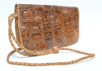 Lovely BOHO Style 1960's Hornback Crocodile Skin CROSS BODY Shoulder Bag