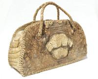 1940's Natural Rugged HORNBACK Crocodile Skin GLADSTONE Doctor Carry Bag