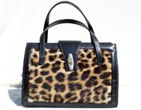 1950's GENUINE FUR & Leather Handbag - Nairobi