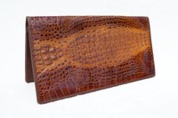 Terrific 1950's-60's Hornback Crocodile Skin Long Wallet