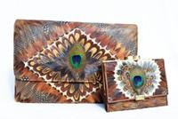 1970's-1980's PEACOCK Feather Shoulder Bag & Wallet